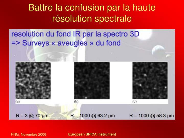 Battre la confusion par la haute résolution spectrale