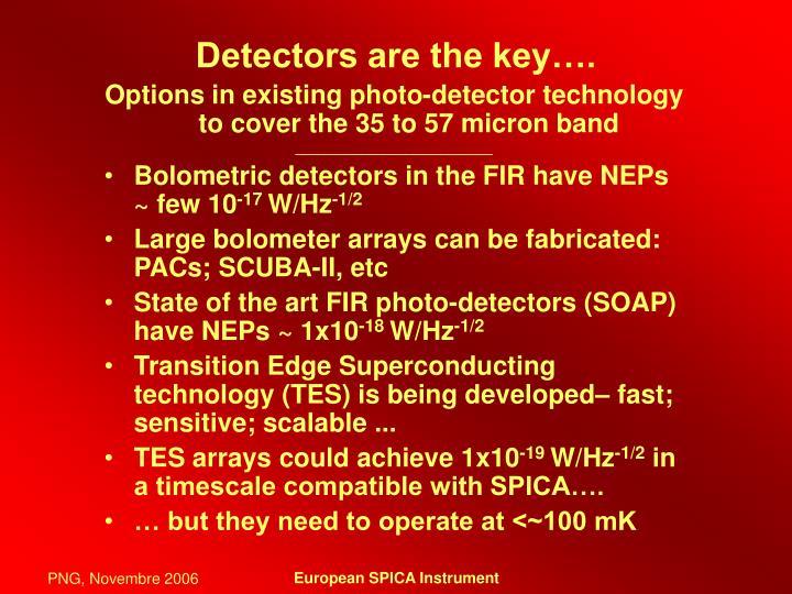 Detectors are the key….