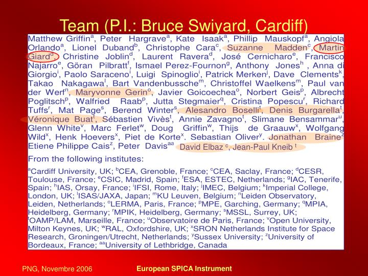 Team p i bruce swiyard cardiff