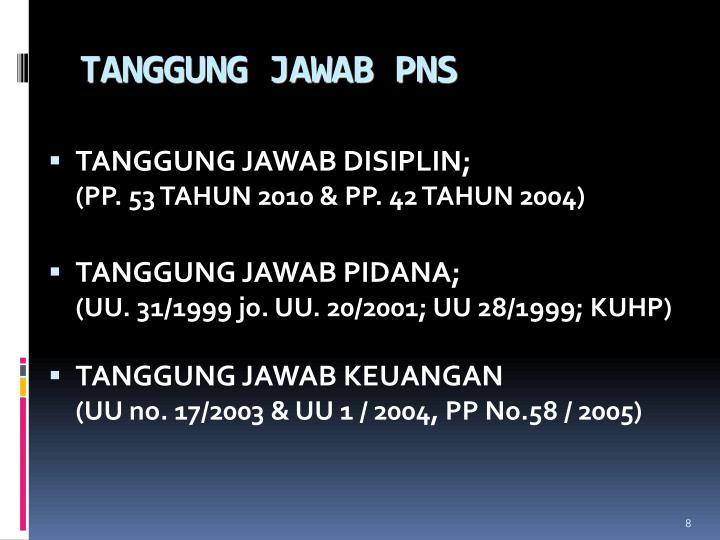 TANGGUNG JAWAB PNS