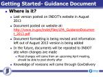 getting started guidance document2