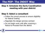 the pdp the indot way2
