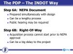 the pdp the indot way4