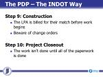 the pdp the indot way7