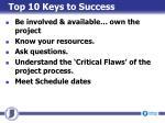 top 10 keys to success