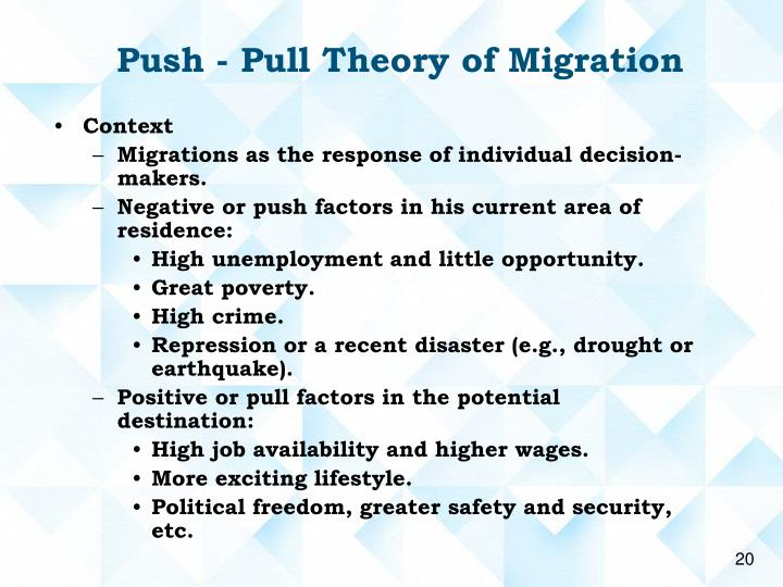 push pull theory of migration