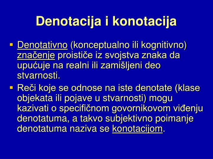Denotacija i konotacija