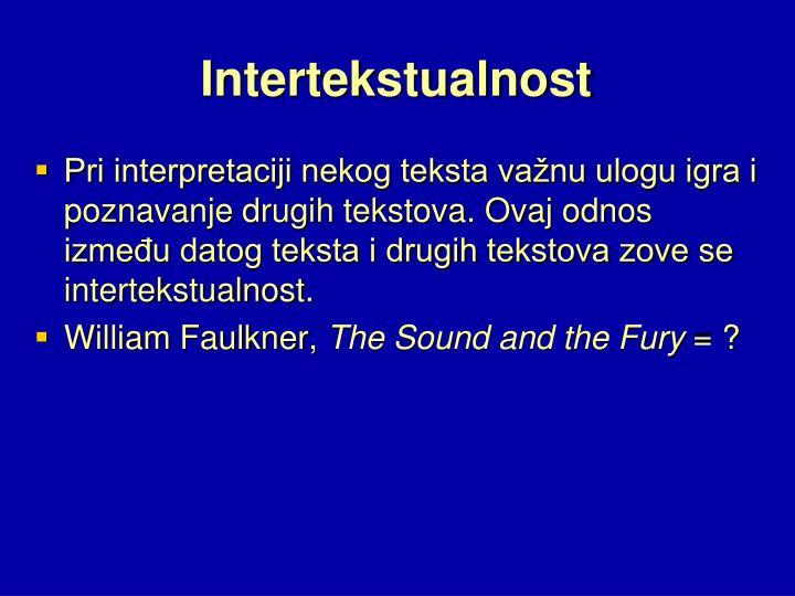 Intertekstualnost