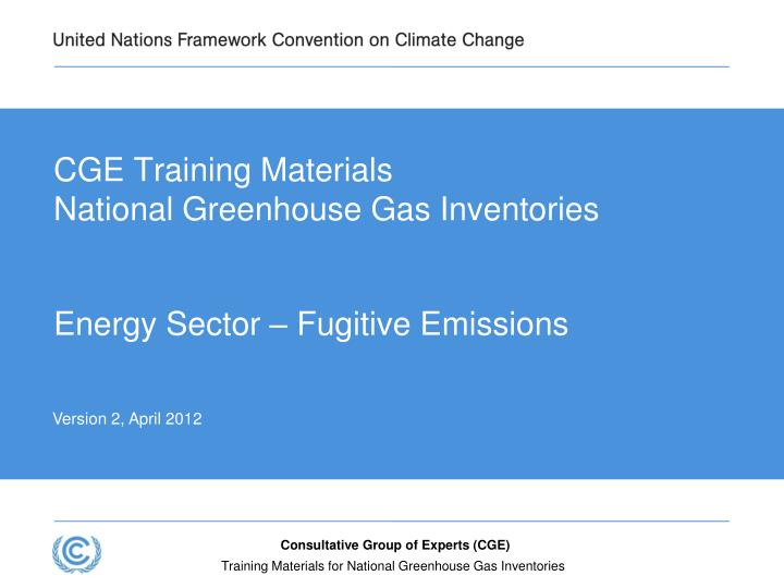 cge training materials national greenhouse gas inventories n.