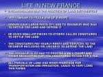 life in new france