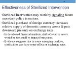 effectiveness of sterilized intervention