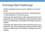 exchange rate passthrough