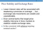 price stability and exchange rates