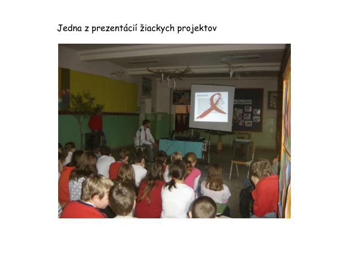 Jedna z prezentácií žiackych projektov