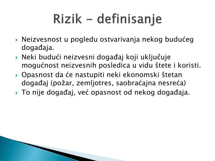 Rizik - definisanje