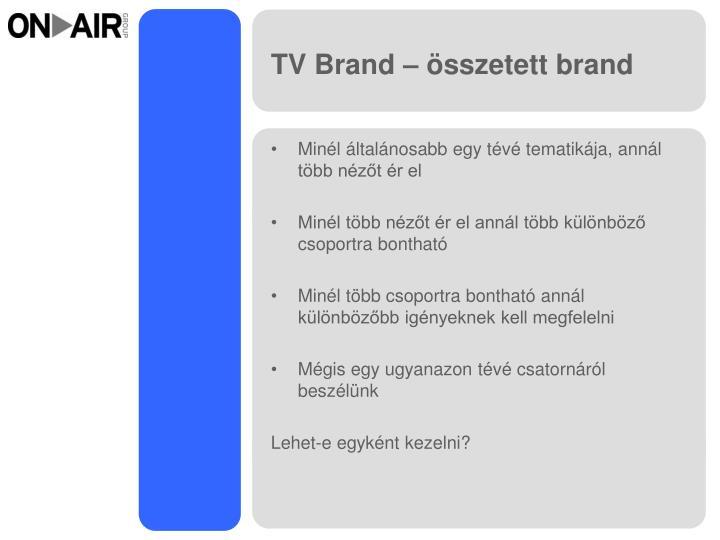 TV Brand – összetett brand