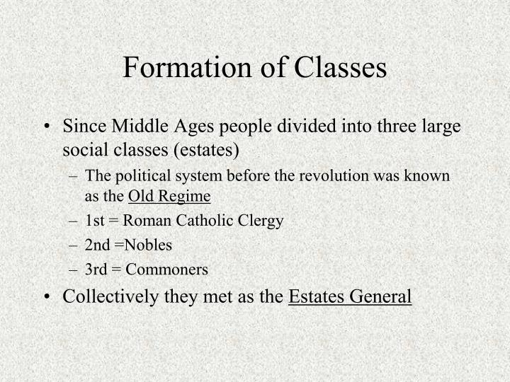 Formation of classes