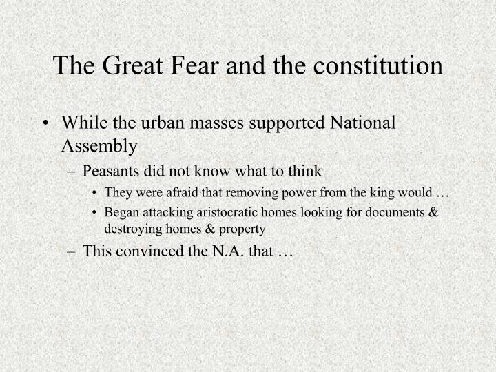 The Great Fear and the constitution