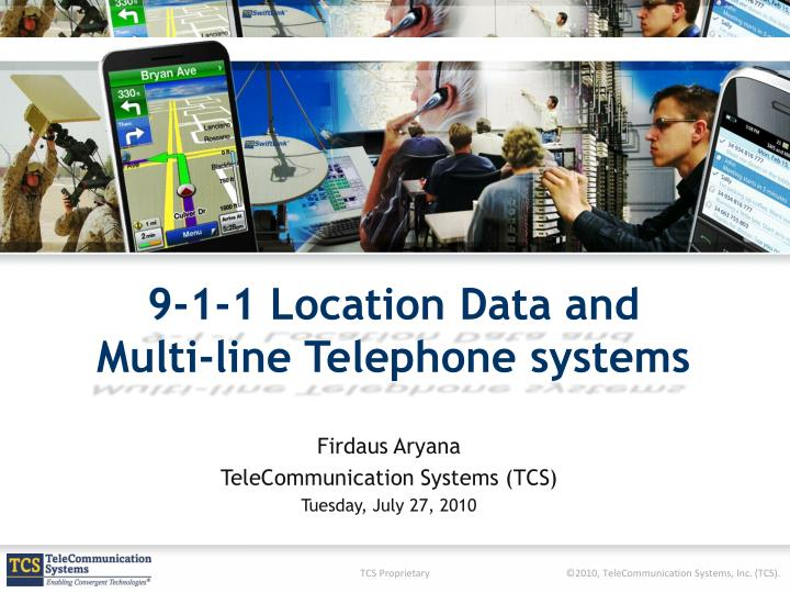 9 1 1 location data and multi line telephone systems