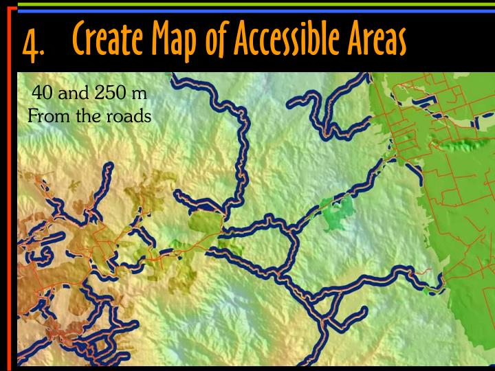 4.	Create Map of Accessible Areas
