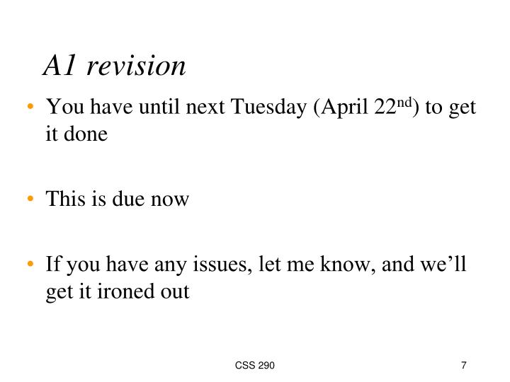 A1 revision
