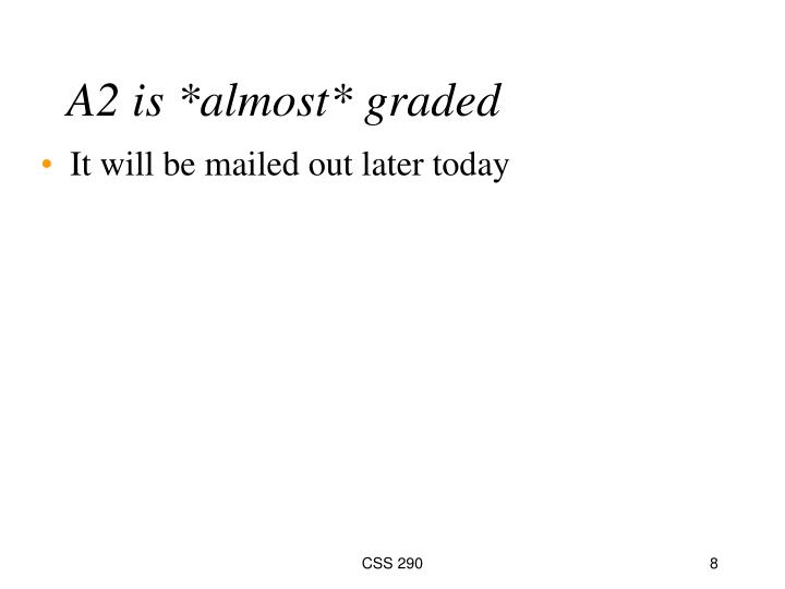 A2 is *almost* graded