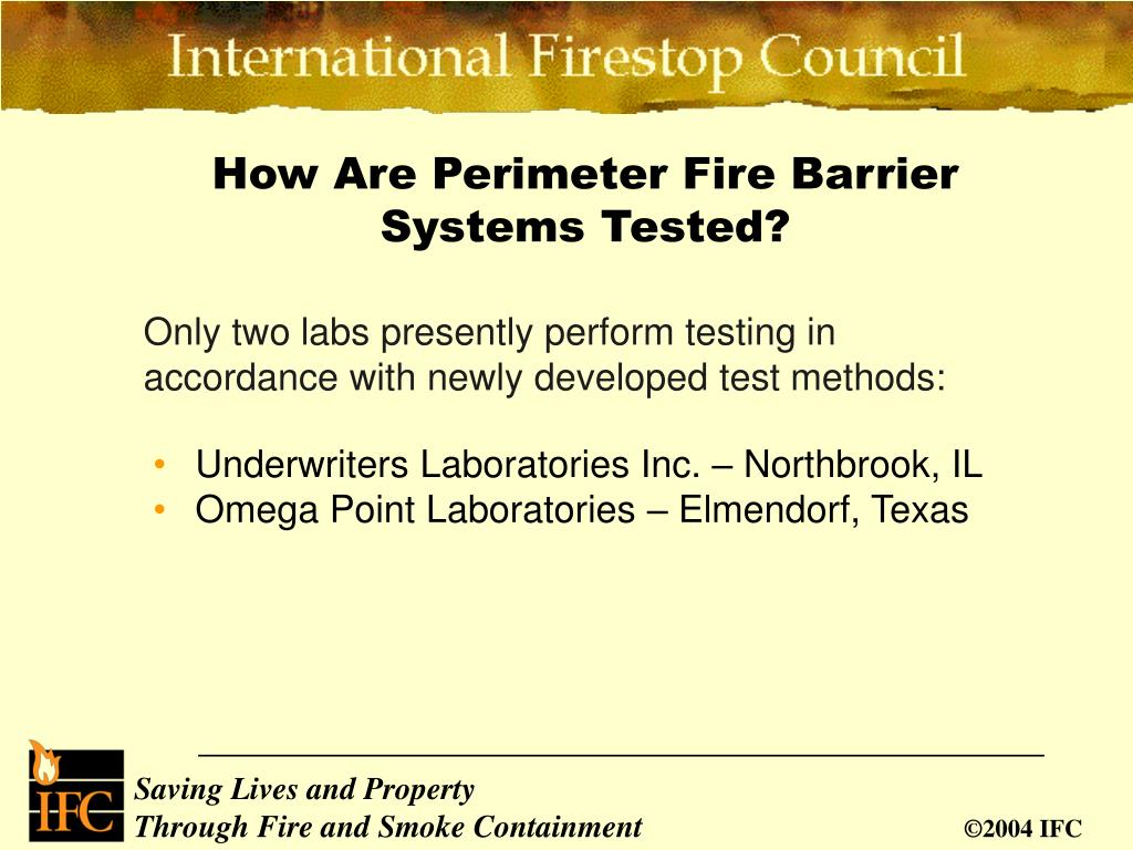 PPT - Perimeter Curtain Wall Fire Protection PowerPoint