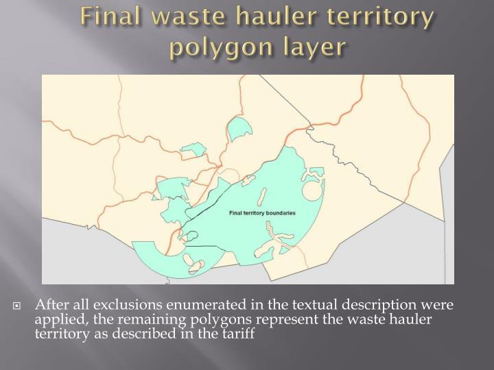 Final waste hauler territory polygon layer