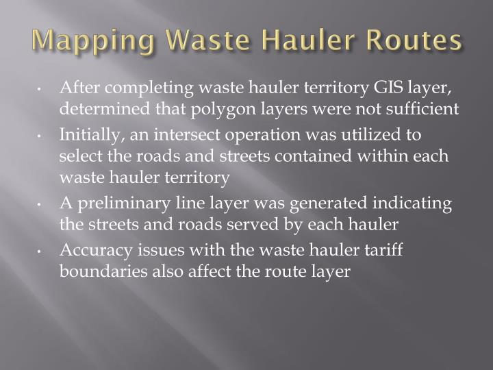 Mapping Waste Hauler Routes