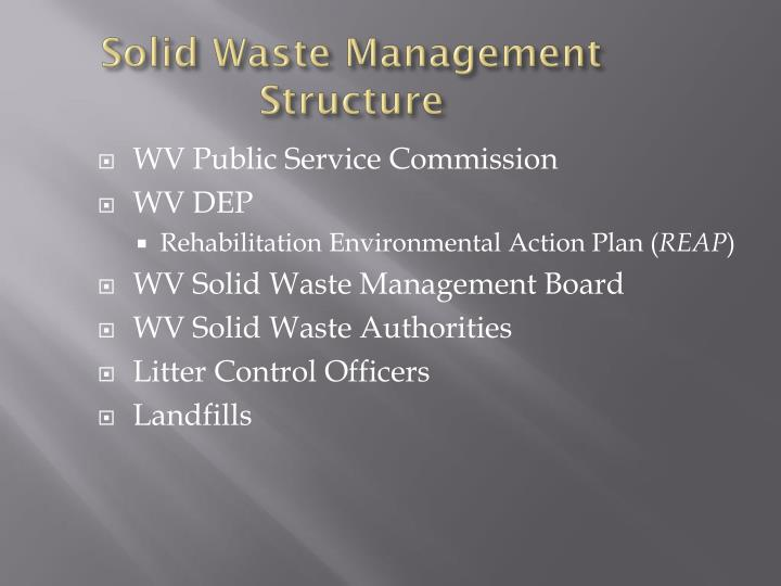 Solid waste management structure1