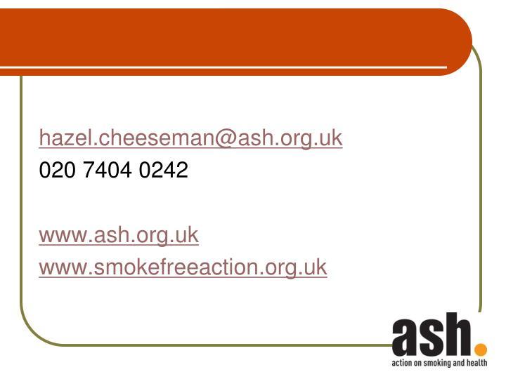 hazel.cheeseman@ash.org.uk