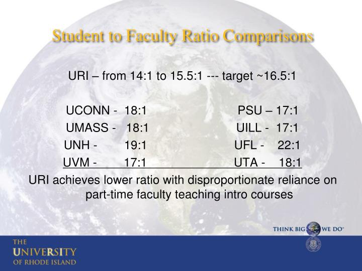 Student to Faculty Ratio Comparisons