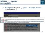 jigsaw verbs synset description1