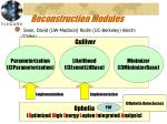 reconstruction modules