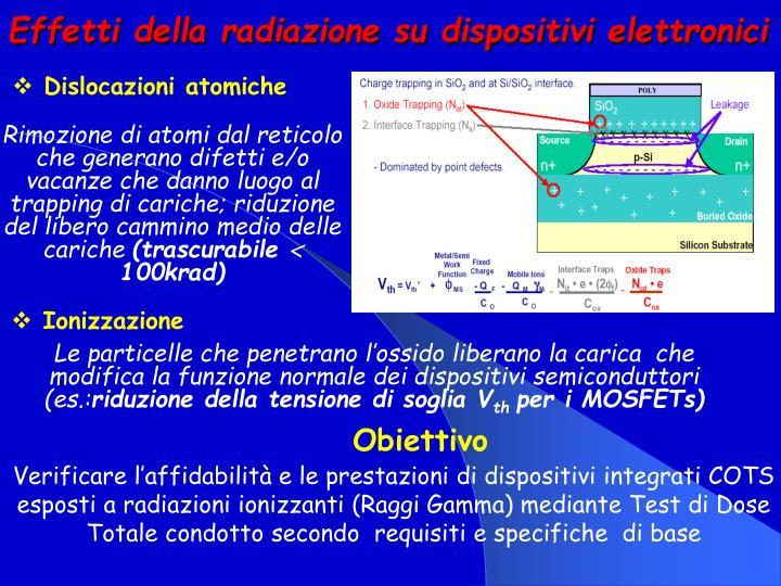 Effetti della radiazione su dispositivi elettronici