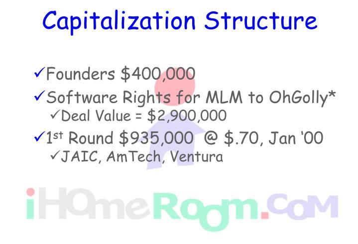 Capitalization Structure