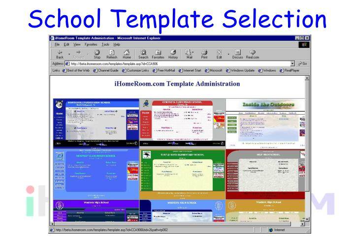 School Template Selection