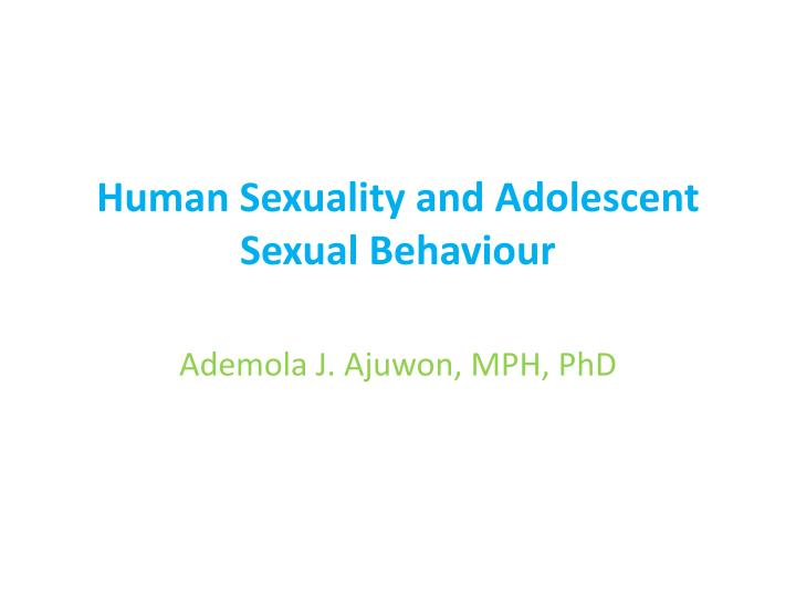 sexuality in adolesence Healthy adolescent sexual development adolescent sexuality and the media: a review of current knowledge and implications western journal of medicine, 172.