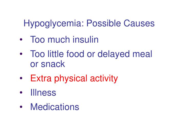 Hypoglycemia: Possible Causes