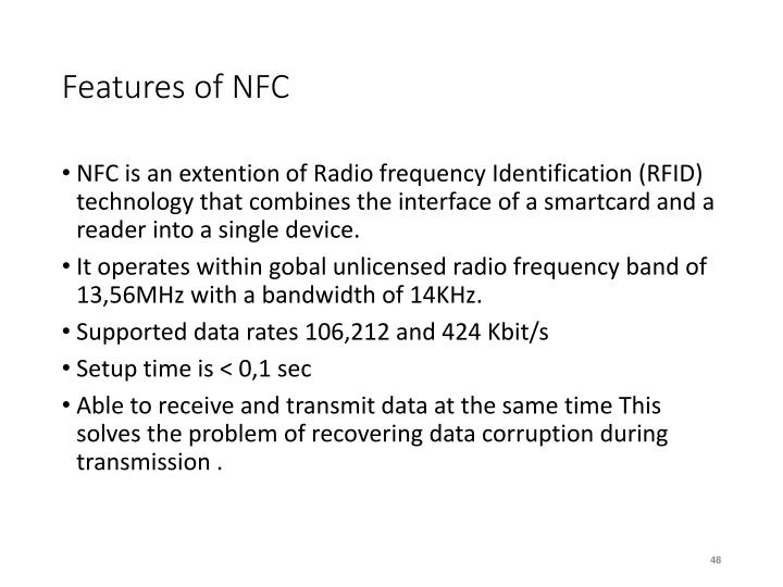Features of NFC