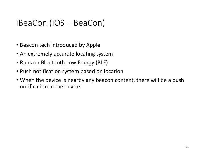 iBeaCon (iOS + BeaCon)