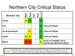 northern city critical status