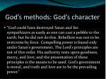 god s methods god s character