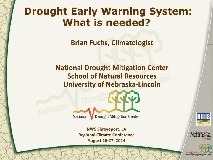 drought early warning system what is needed n.