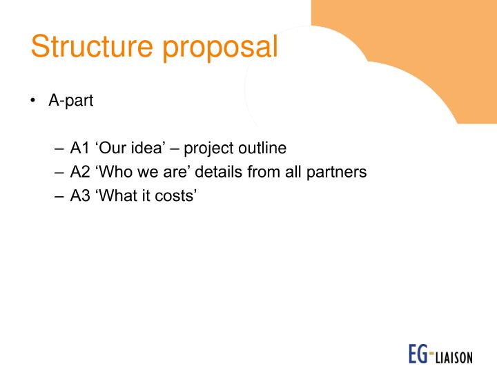 Structure proposal