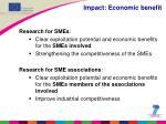 impact economic benefit