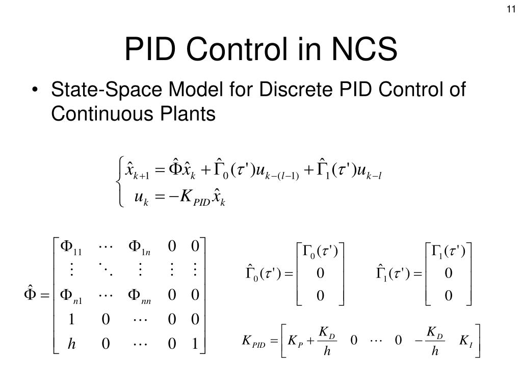 PPT - PID and Model Predictive Control in a Networked