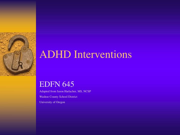 adhd interventions n.