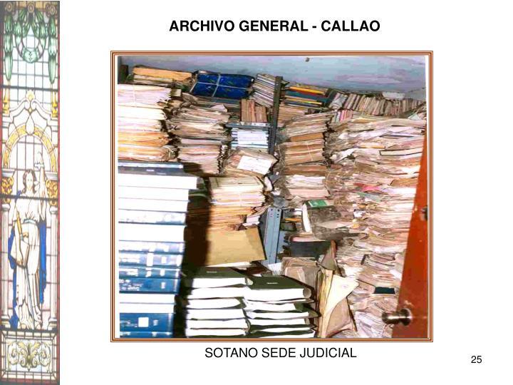 ARCHIVO GENERAL - CALLAO