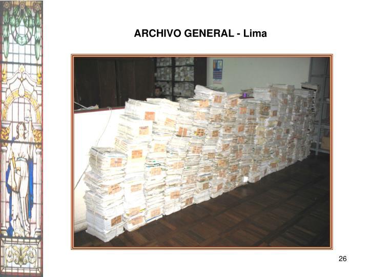 ARCHIVO GENERAL - Lima